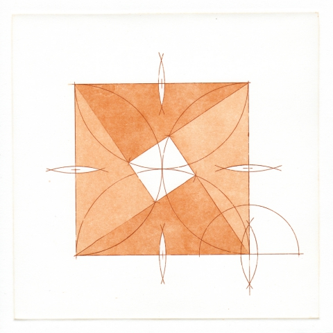 Excerpt from  Semblant Geometries  (p. 18):  four right triangles within a square .