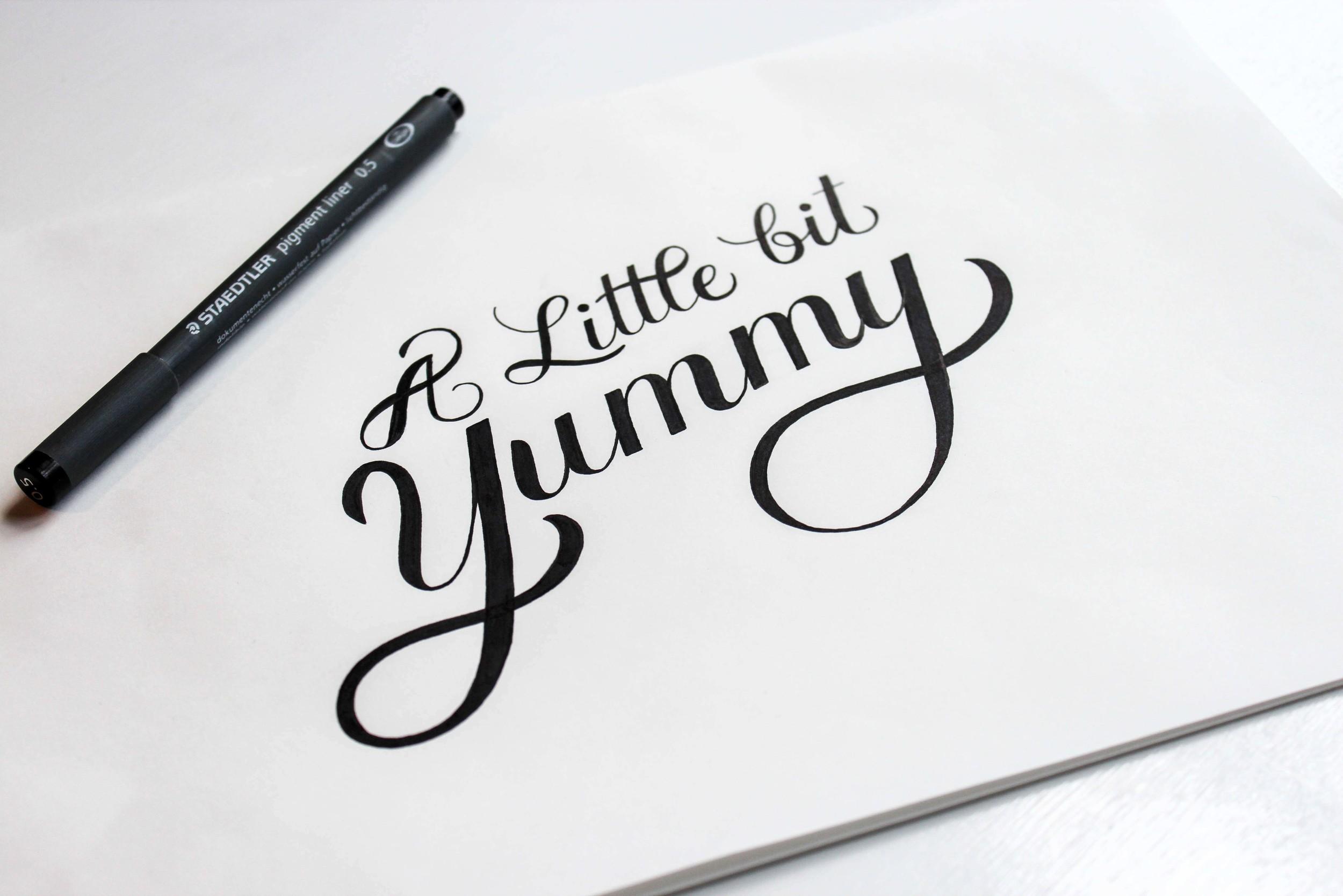 a_little_bit_yummy_lettering_lisaryan.jpg