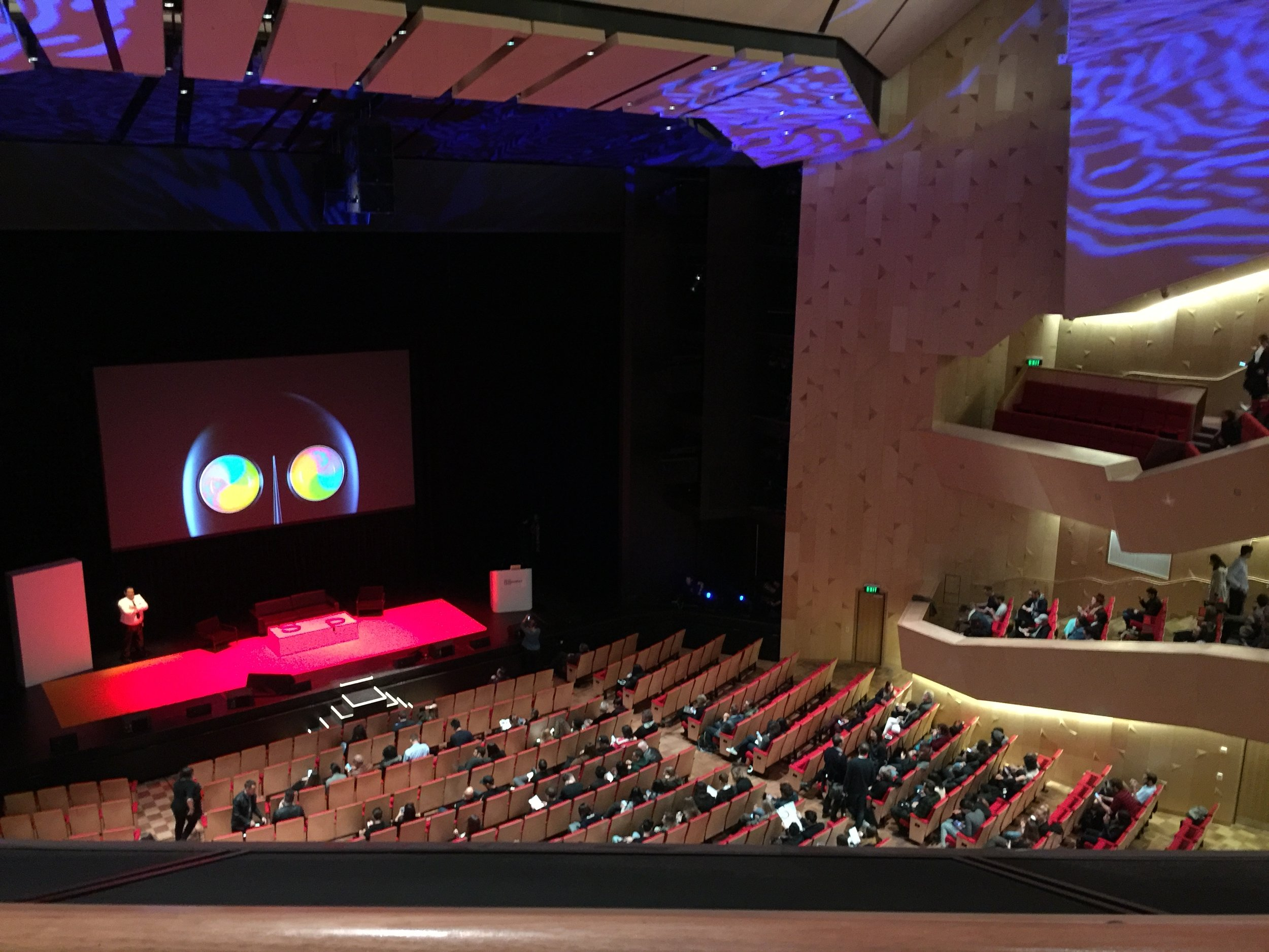 Preparing for information overload at Aotea Centre. Photo Credit: Holly Melville.