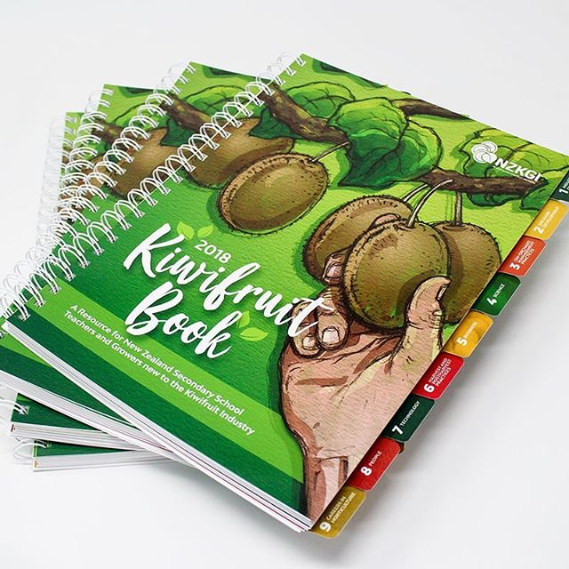 Project Showcase // We've been working with the awesome team at NZKGI on their annual Kiwifruit Book. The publication is an informative resource for school teachers and newcomers to the kiwifruit industry. Check out the full project on our website - link in bio. 🌱  #NZKGI #publicationdesign #infographics #welovekiwifruit #design