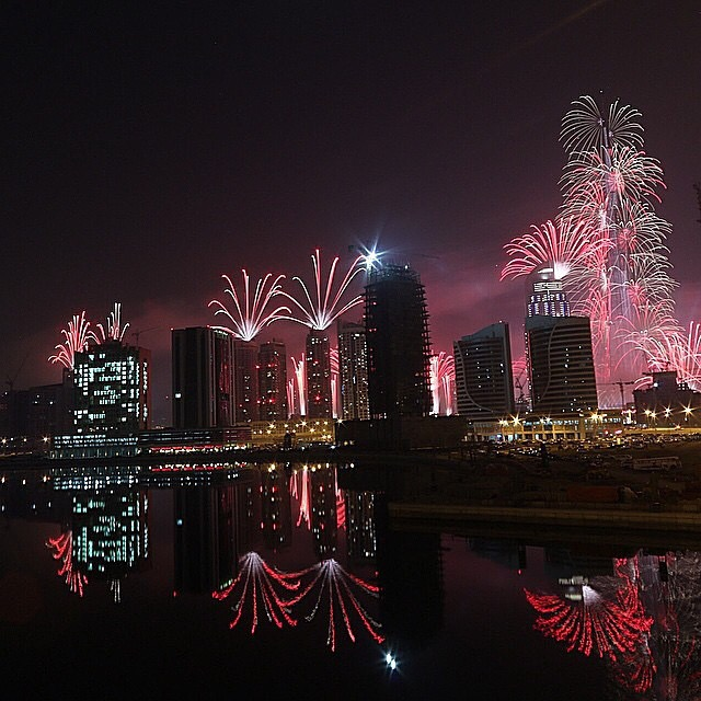 I wish this was my view of Dubai's epic fireworks show . But the concert was much too far from the center of the City , so I saw it on youtube , like the rest of the world