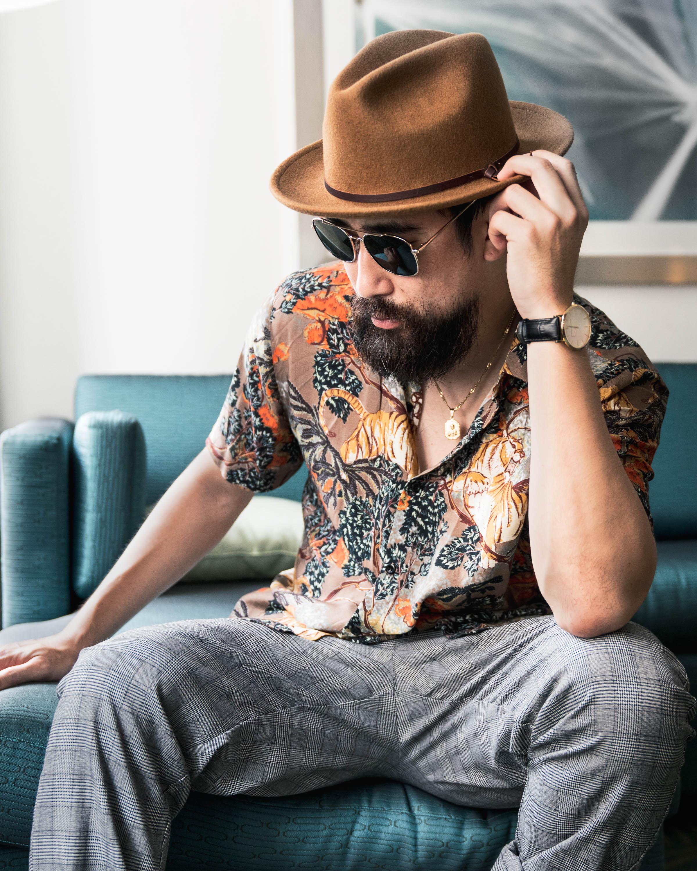 ryan feng justfeng sexy asian man beard fashion lifestyle