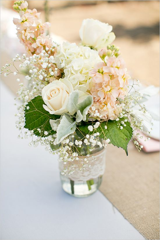 Source  - Use a variety of different blooms for your flower arrangements