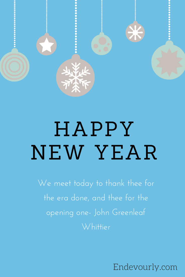Happy New Year from Endevourly.com