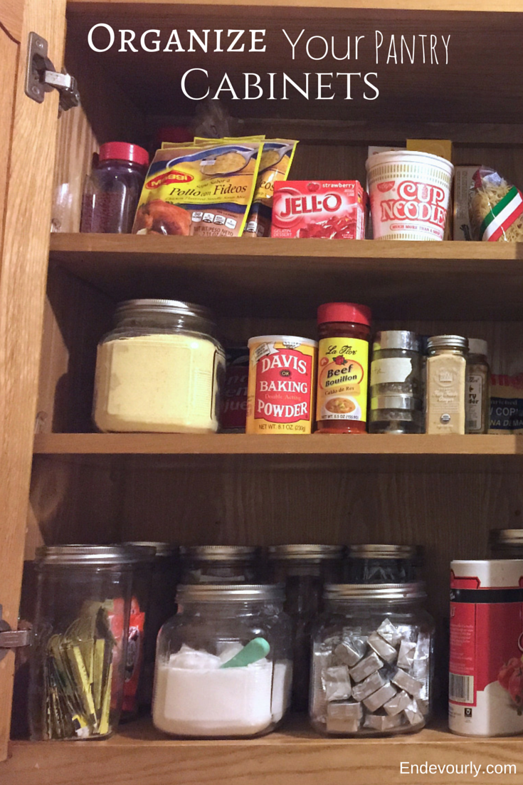 Organize your pantry cabinets