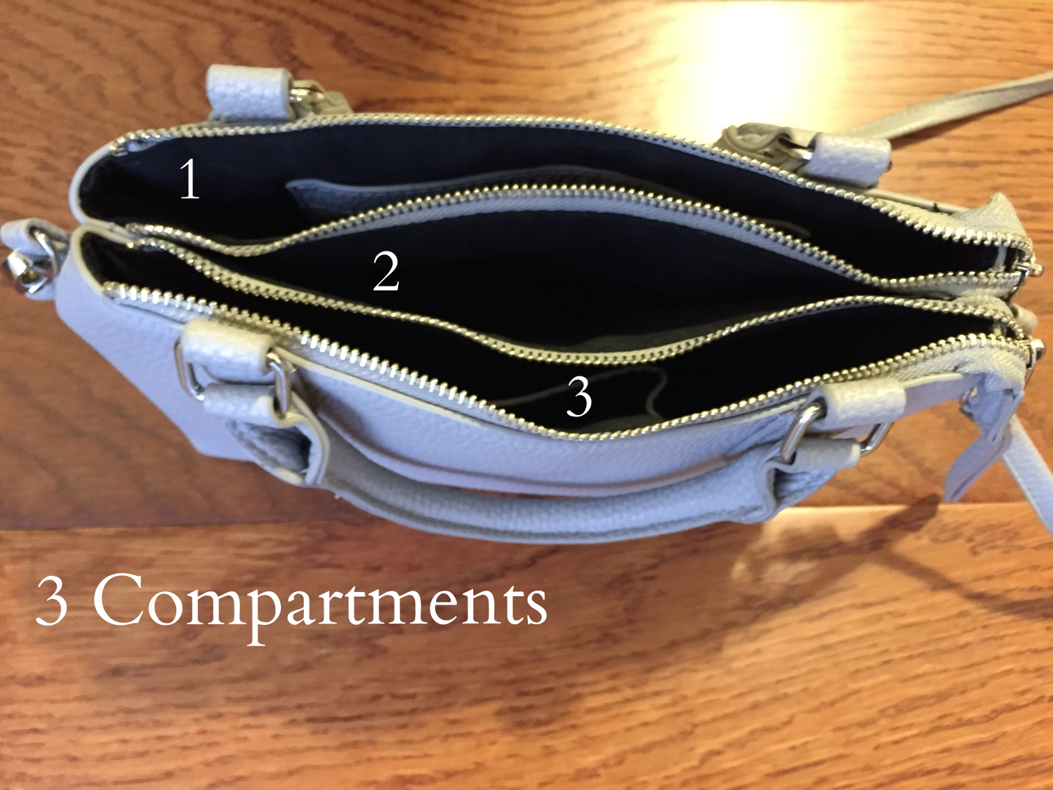 Narrow down what you can carry in your bag by looking at how many compartments it has