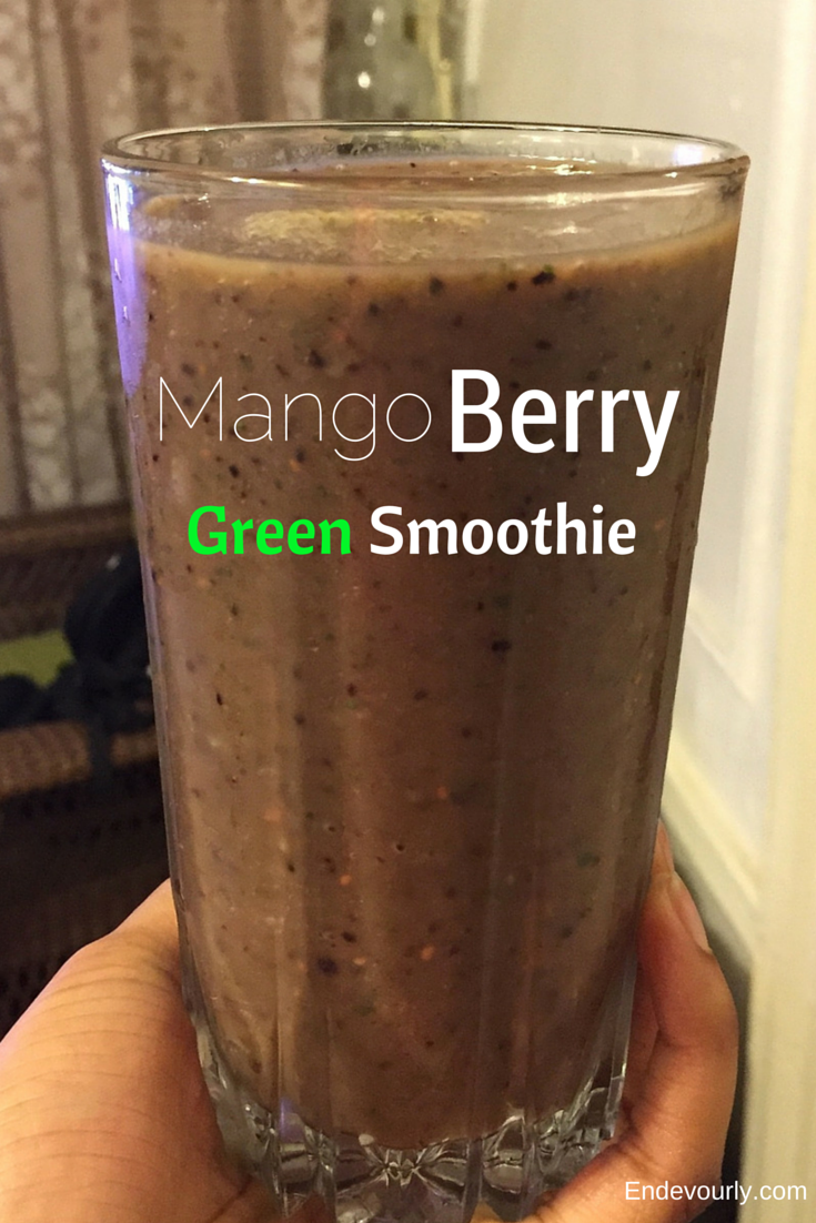 mango berry green smoothie