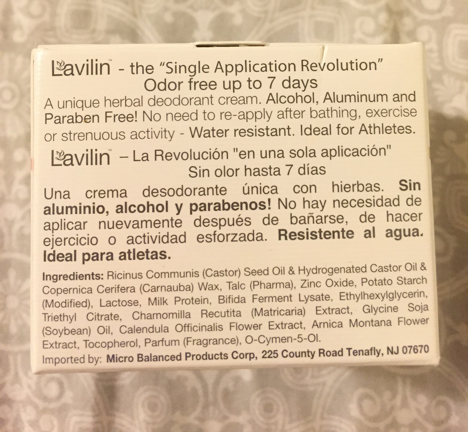 Lavilin is a completely natural deodorant cream
