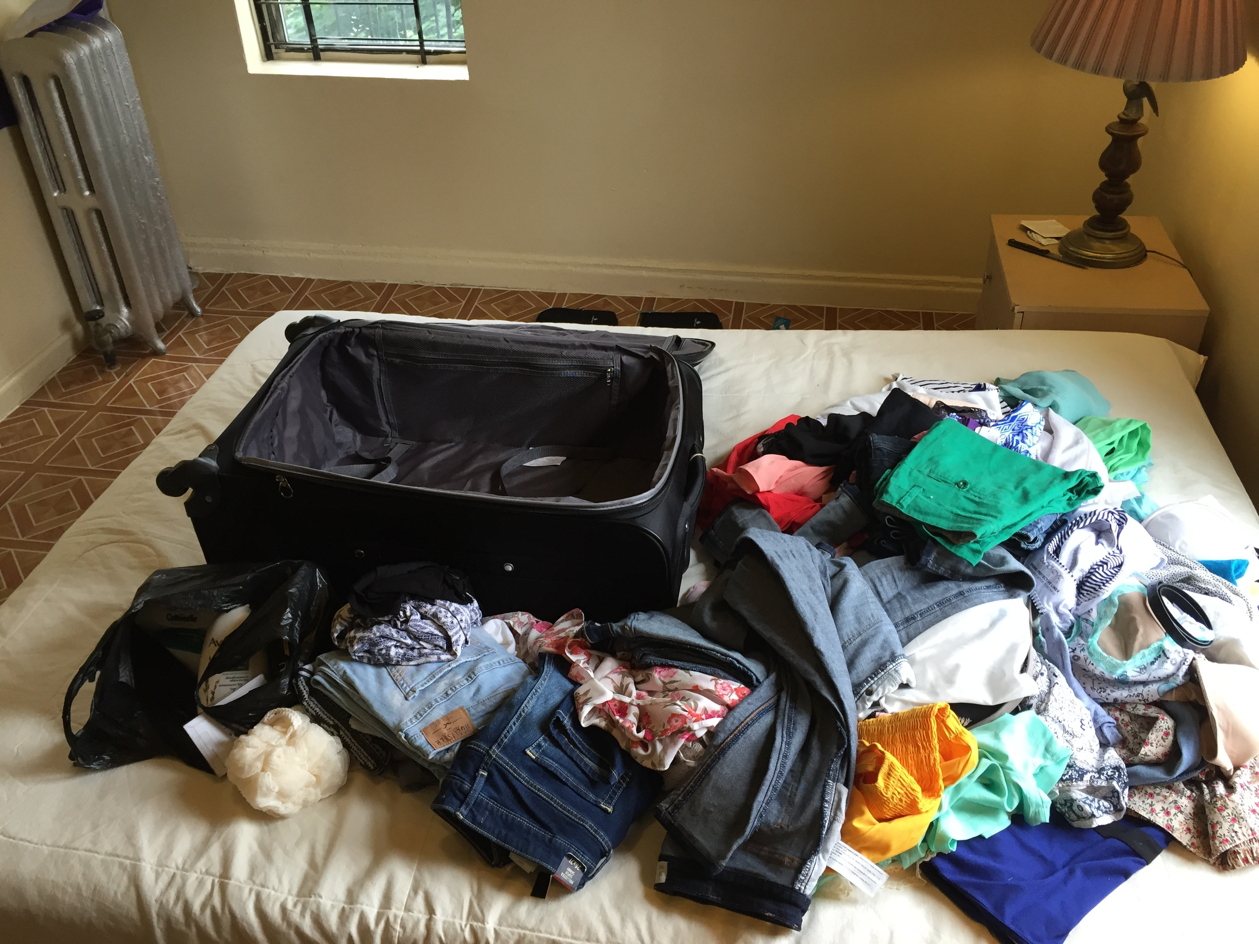 Lay out everything you'll be packing