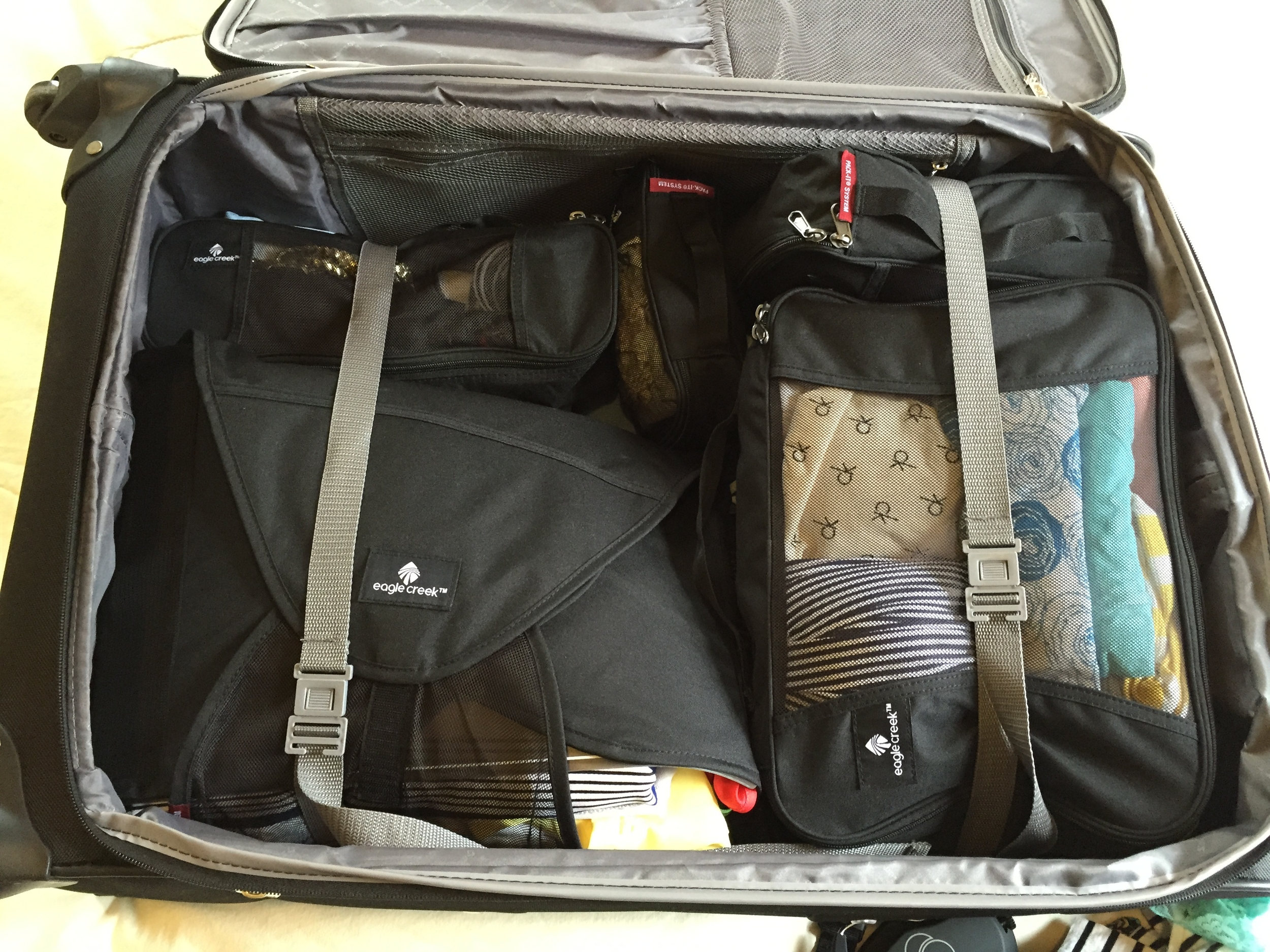 Packing cubes make extra room in your suitcase