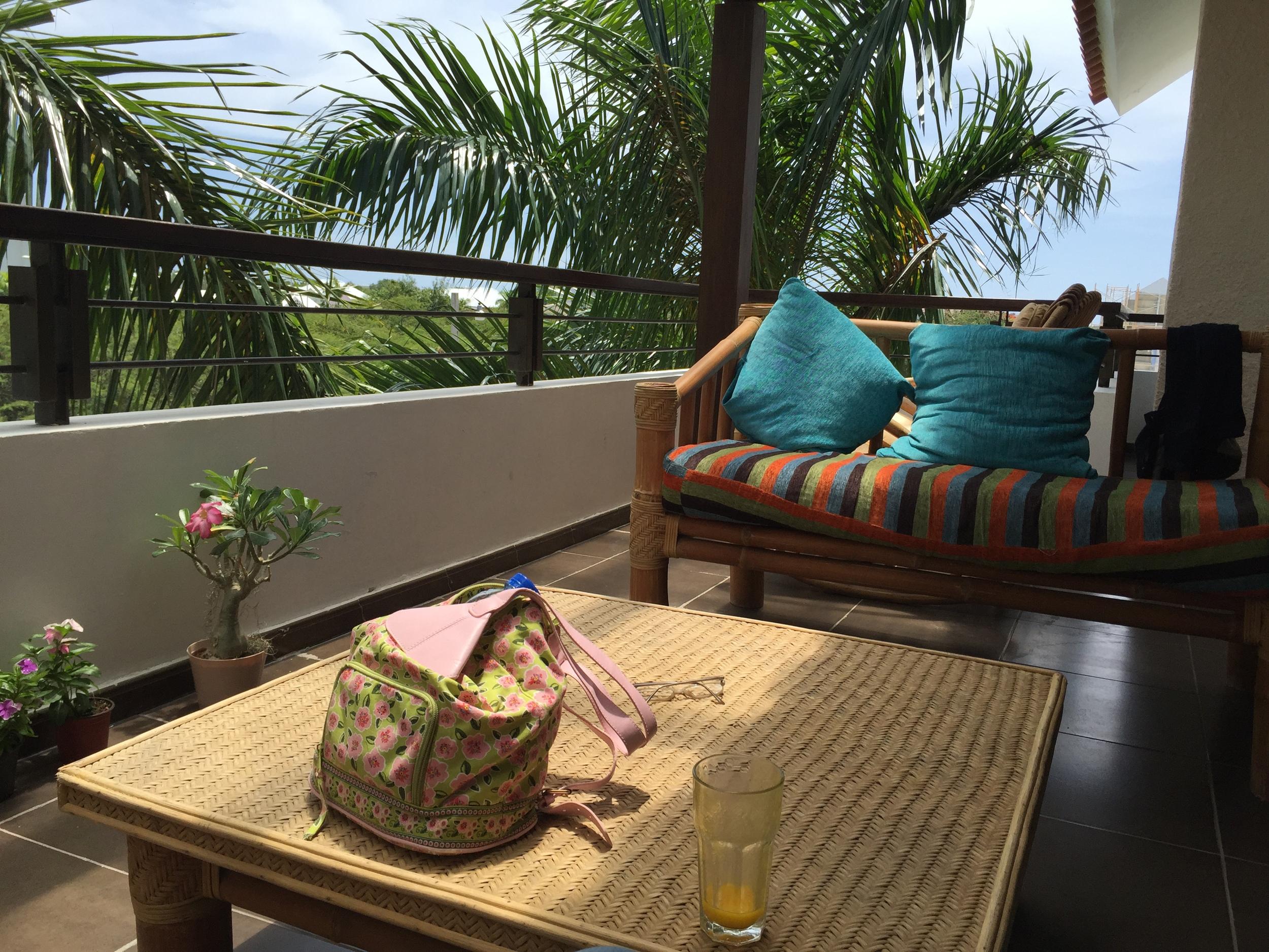 Balcony at Punta Cana