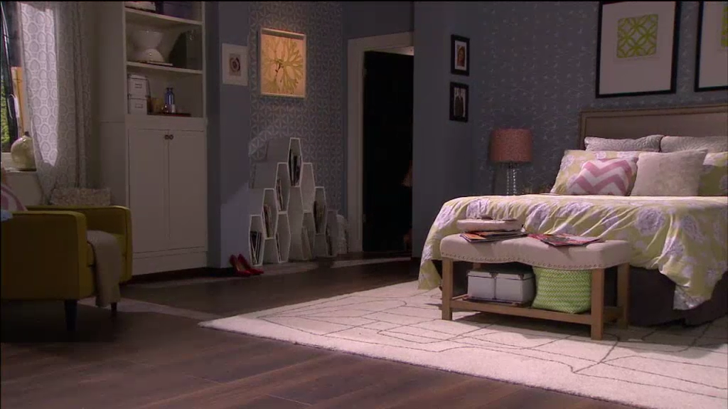 Serene, girly, sophisticated teen bedroom
