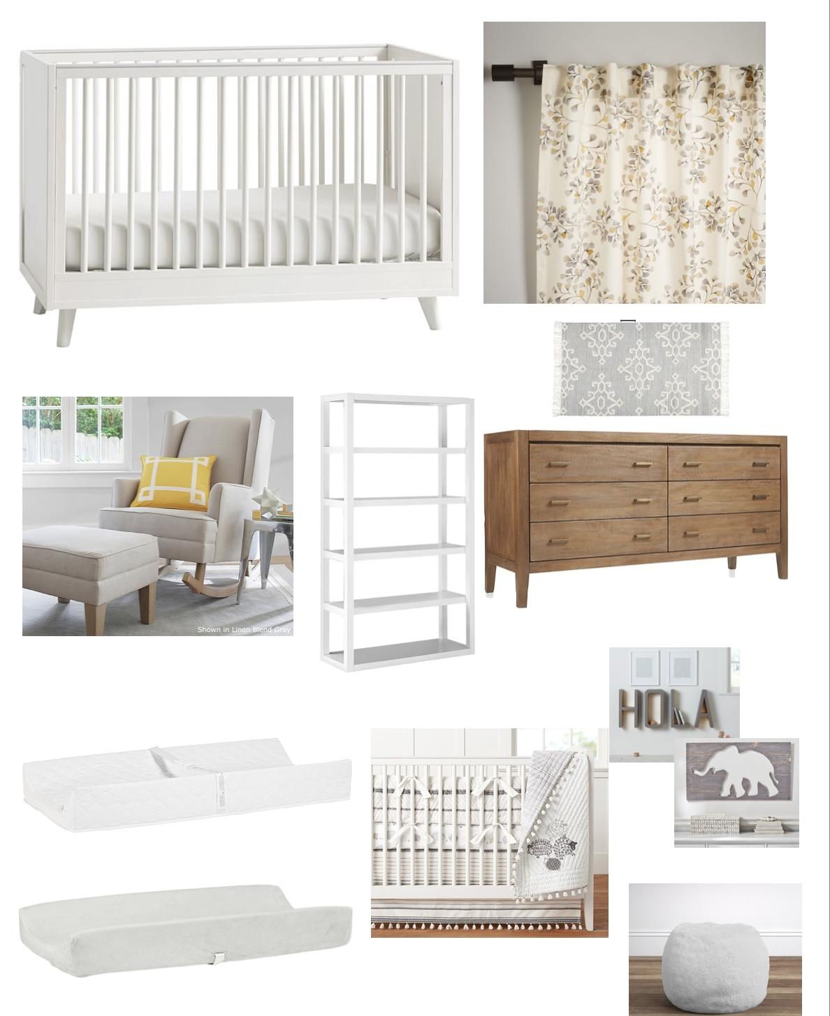 Chic Nursery Design Mood Board