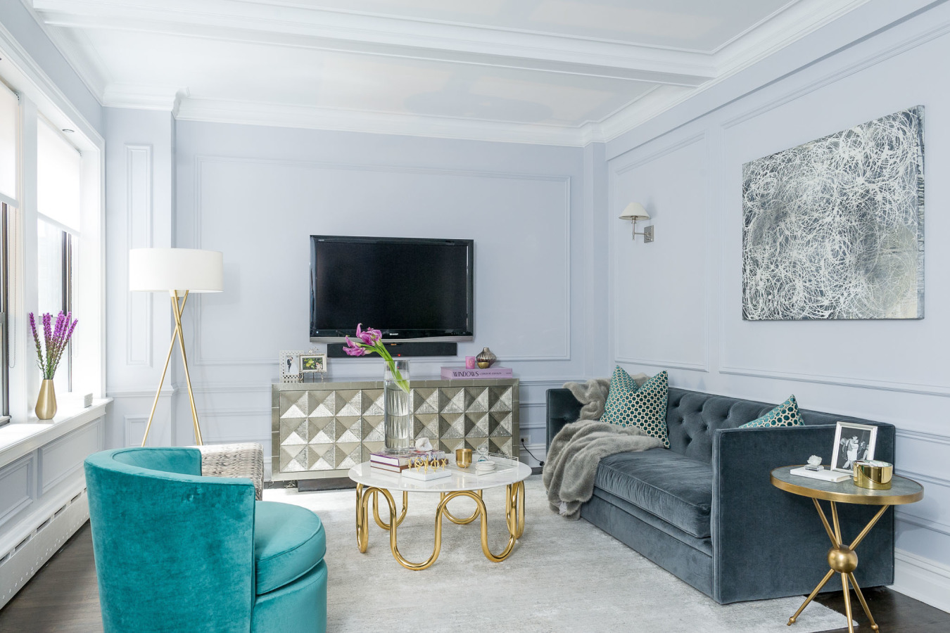 Source        In case you're interested in that coffee table it is from   Jonathan Adler