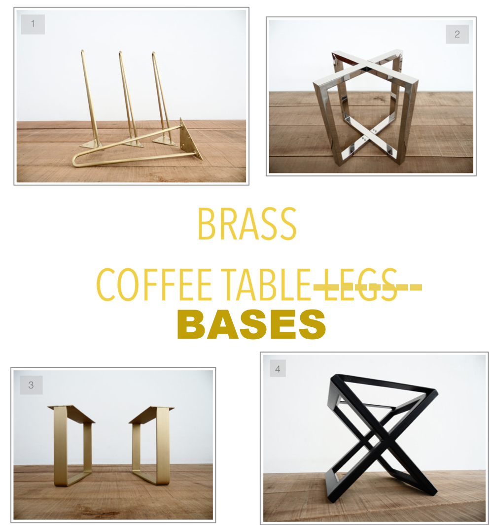 Marble Coffee Table Bases Brass table bases