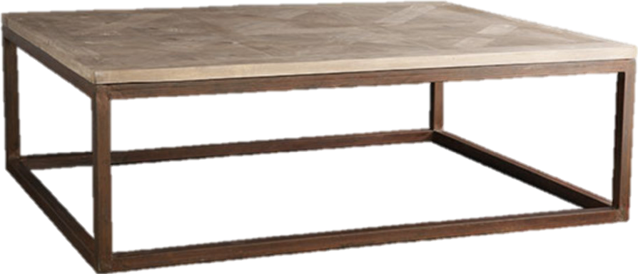 You know, yes, we love parquet coffee tables and if you like the look, consider this option from Wisteria with a gorgeous and smooth top and an iron base.