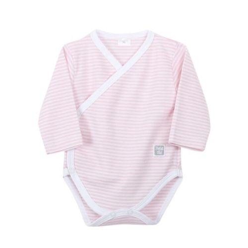 Newborn Pink Stripe Basic Body - Long Sleeves