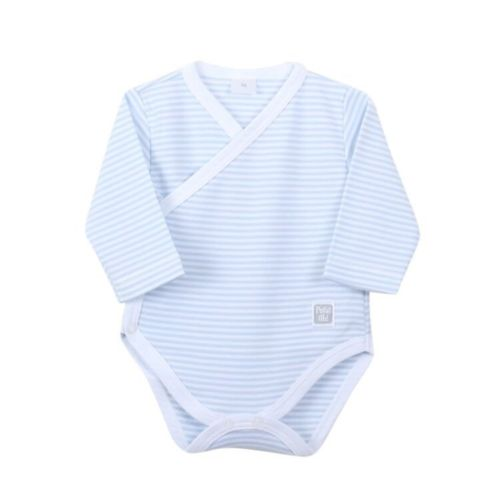 Newborn Blue Stripe Basic Body - Long Sleeves