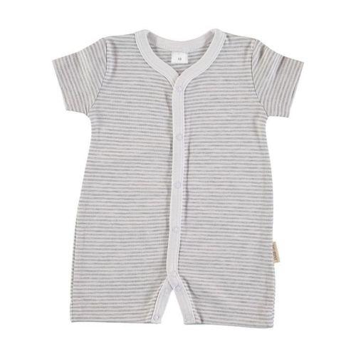 Baby Romper Pajama - Gray Stripes