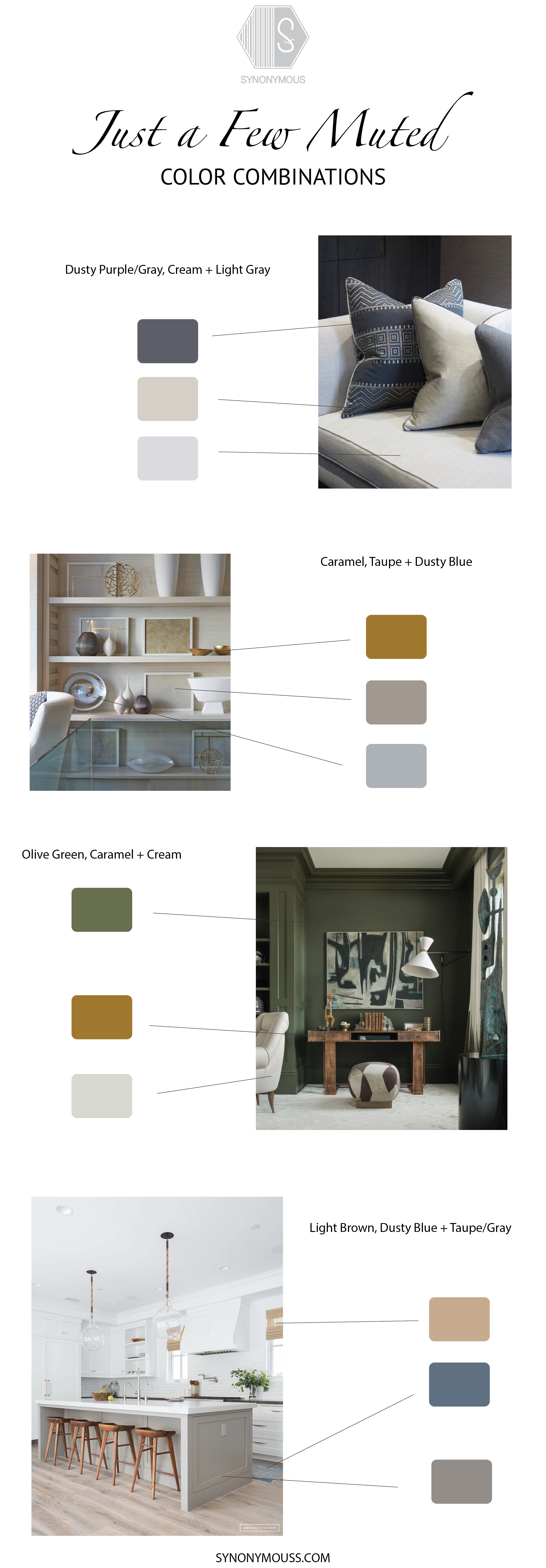 Muted Color Combinations - SYNONYMOUS