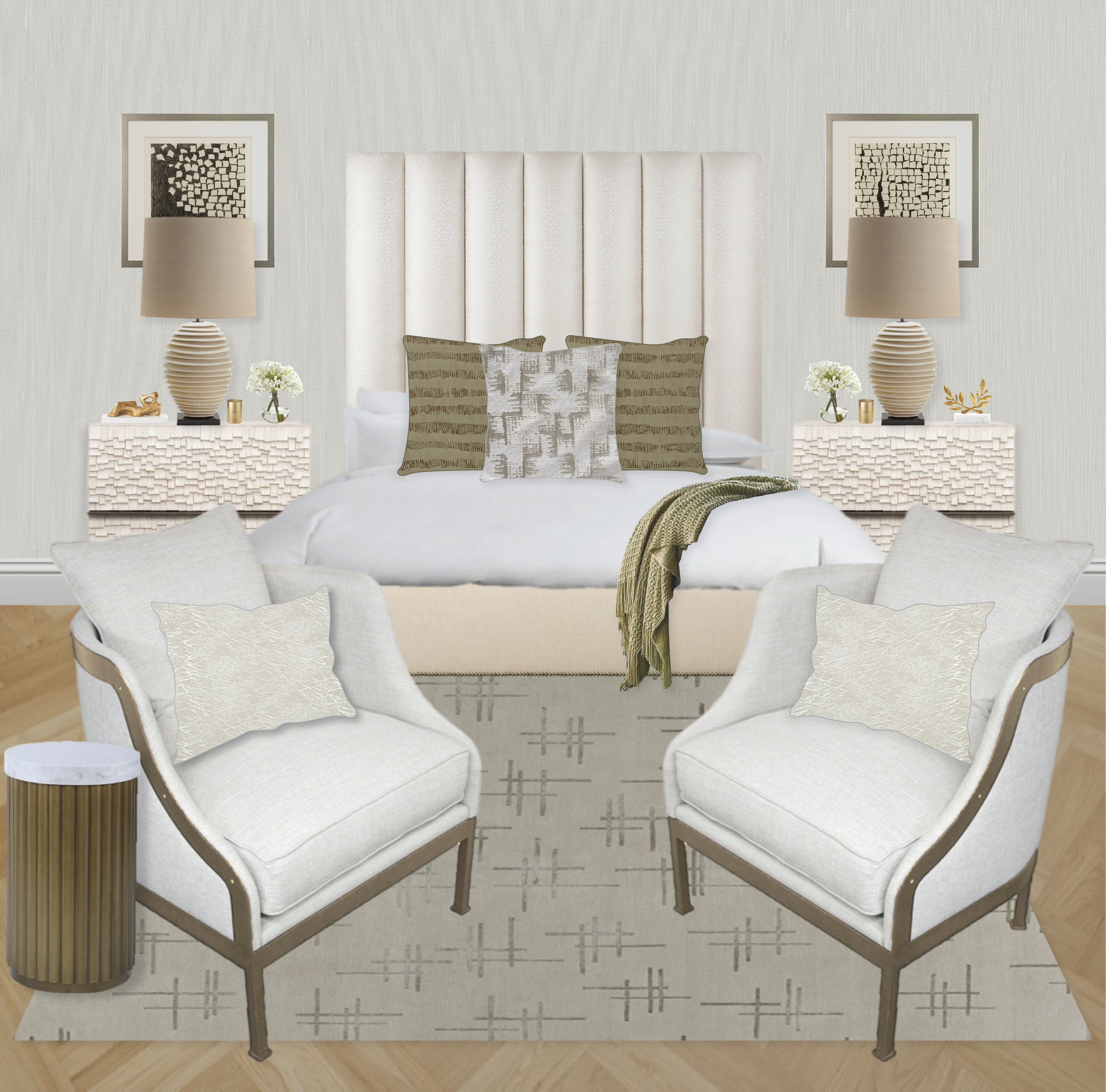Olive Green and Textured Bedroom by Synonymous   Synonymouss.com copy.jpg