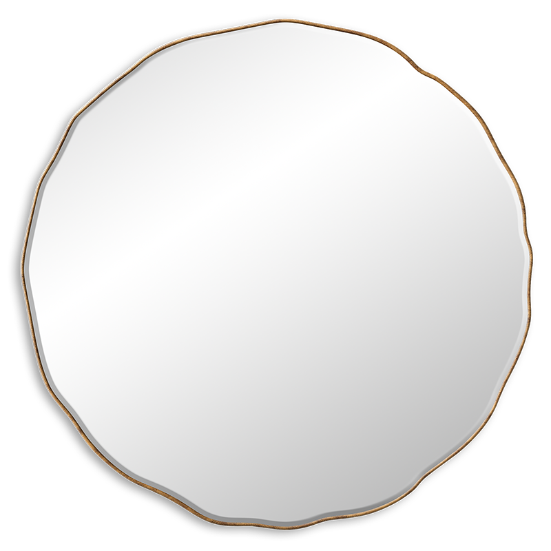 """Round mirrors are chic, but when you introduce meandering curves they become even better. We love this large 79"""" option for its uneven round shape. Offering an unusual, yet chic, classic and soft approach."""