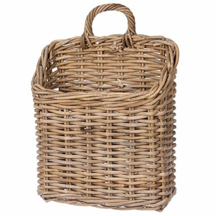 Despite loving all things classic contemporary, we also love adding a touch of rustic chic and this rattan wall basket does just that! Hang it on your front door and fill it with blooms, use it in your mudroom for mail or in the kitchen holding rolling pins or rolled tea towels.