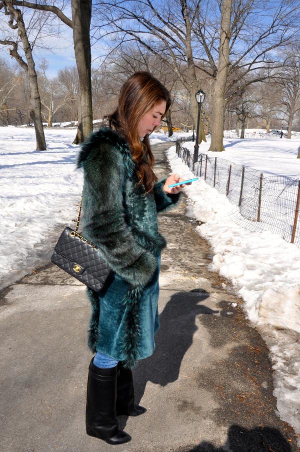 Alberta Ferretti Fur Coat