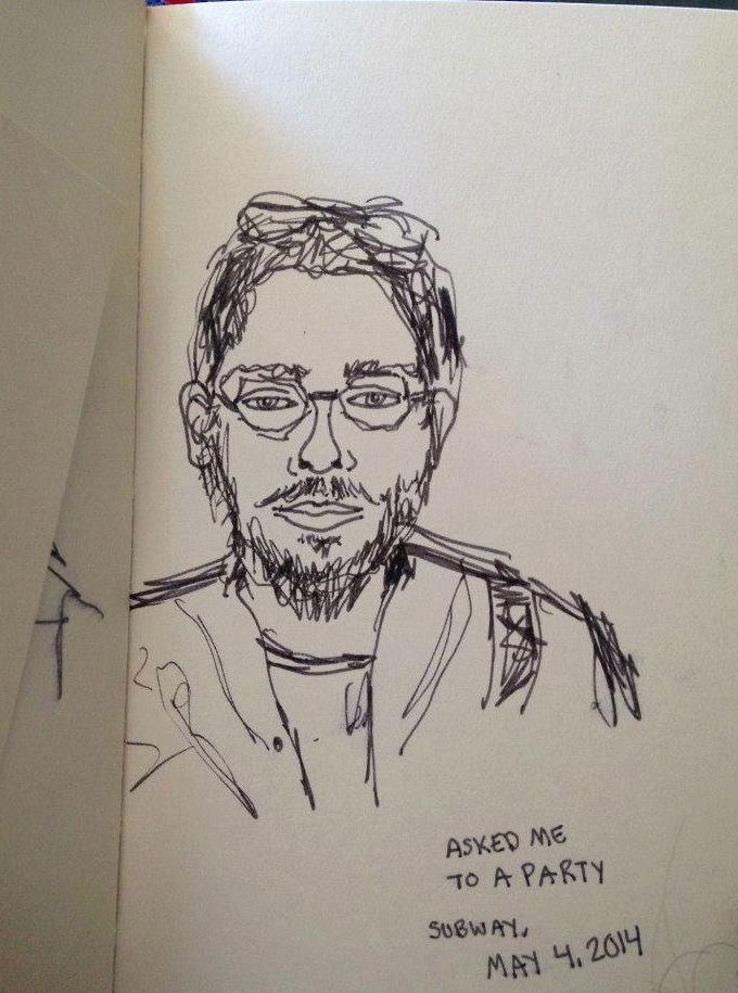 Subway Portrait: Asked Me To A Party
