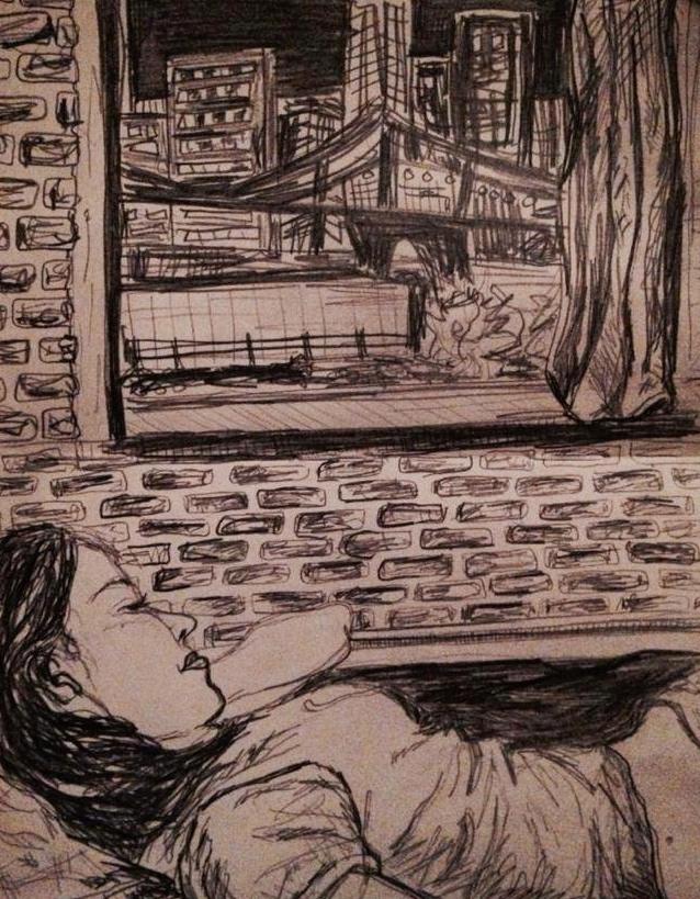Julia Asleep in NYC