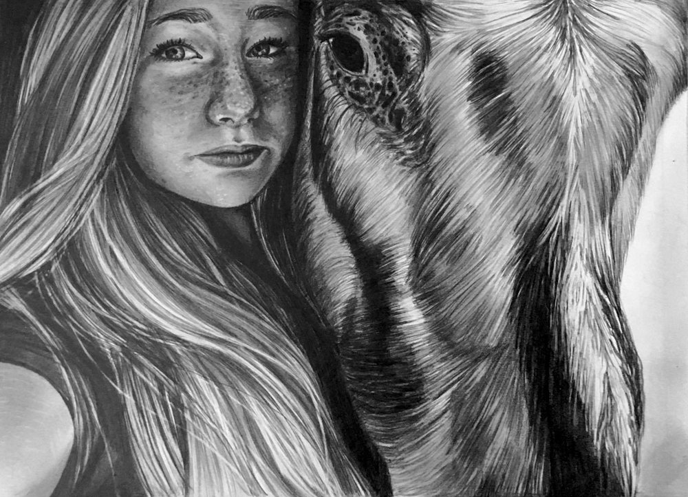 Girl and Horse, Brown Family