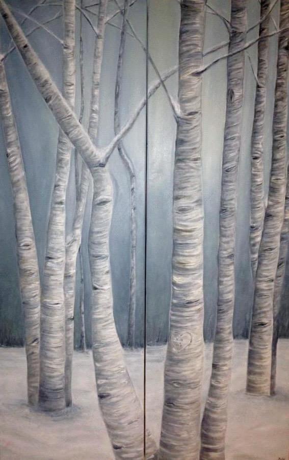 Birch Grove Diptych