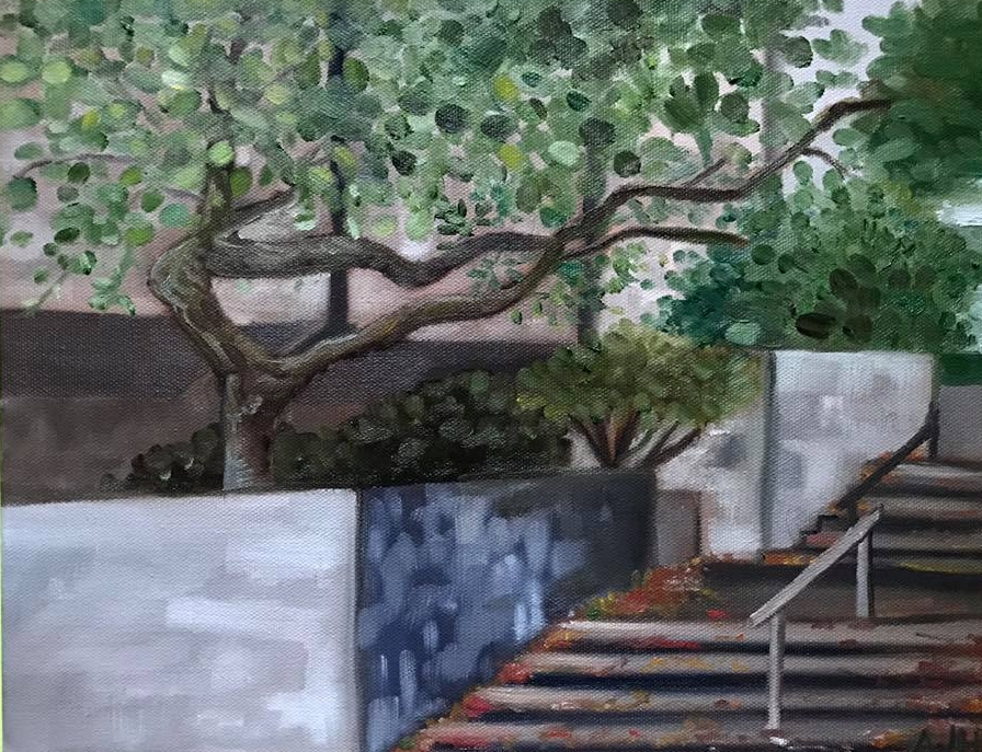 Perspective of an Alley, Plein Air