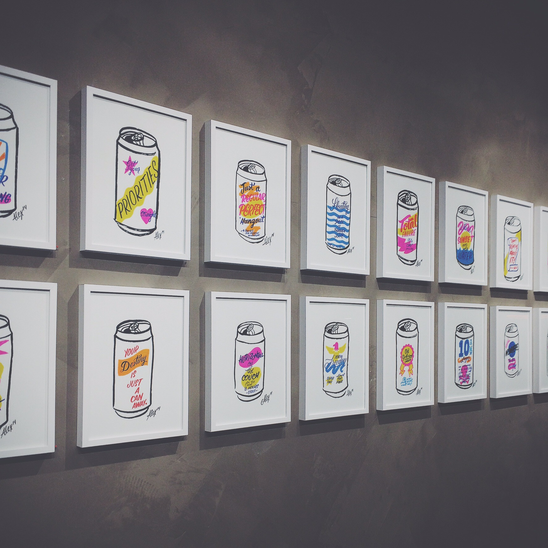Art show by Alexander Barrett. Follow him on Instagram @tuffstuf.