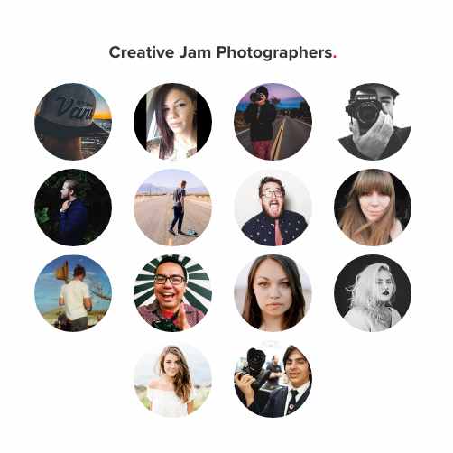 The 2016 Adobe Creative Jam San Diego Photographer participants in the tournament.