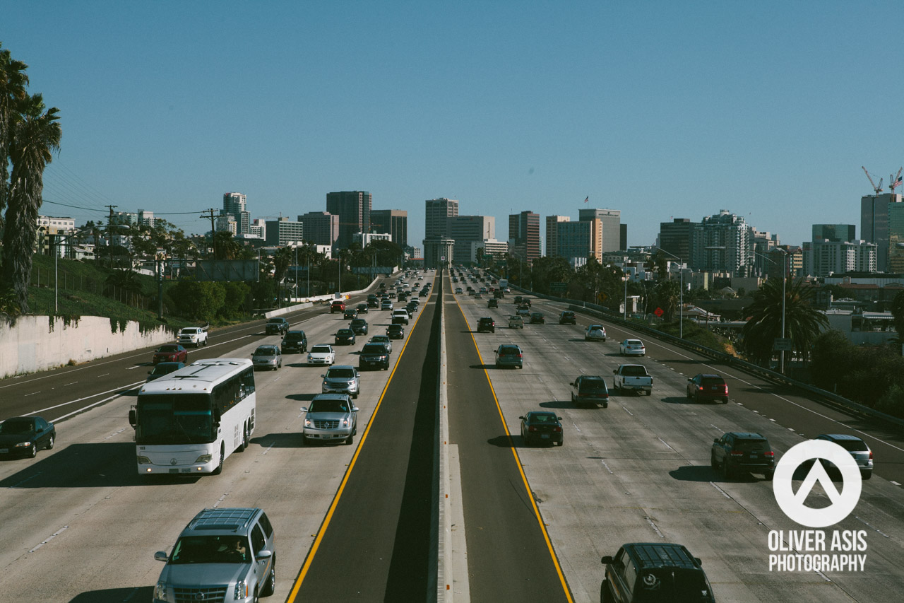 Interstate 5 heading towards Downtown San Diego.