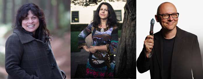 Authors Sulari Gentill, Kaaron Warren  (picture by Art Atelier)  & Sean Williams  (picture by James Braund)