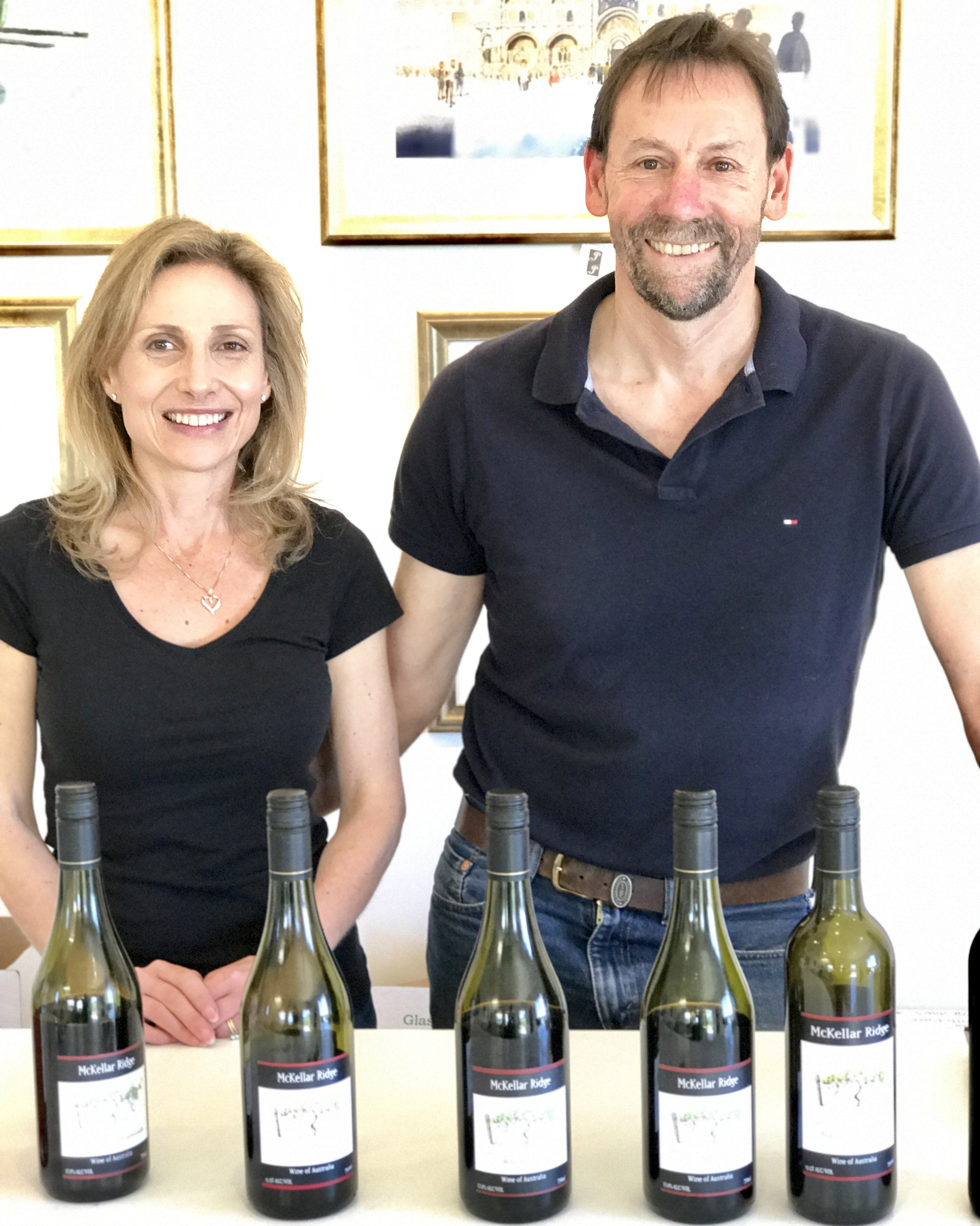 Marina and John Sekoranja at the Mckellar Ridge Cellar Door