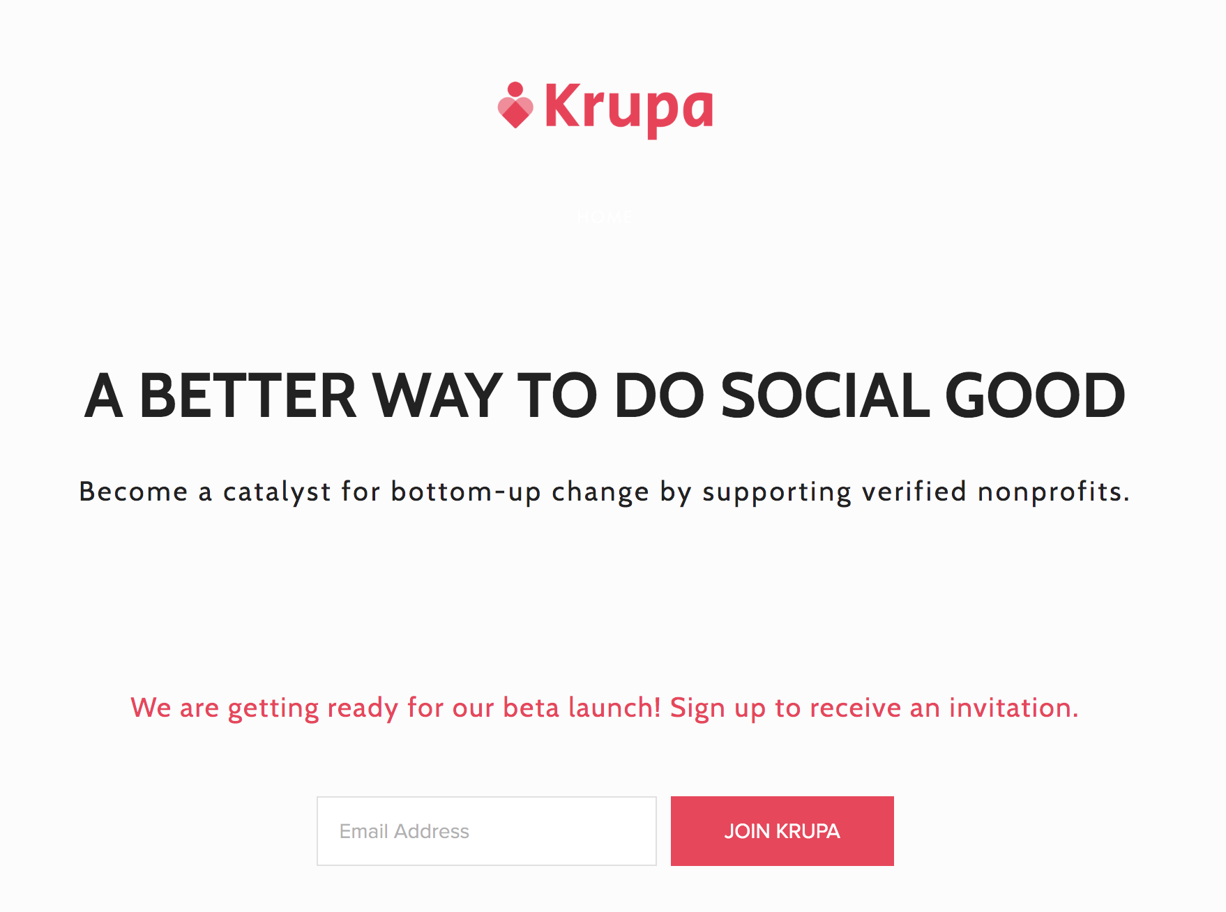 Launching Krupa - Krupa is set to launch by Fall of 2019. It is currently in its final testing stages, and is gathering it's set of beta testers. To provide initial feedback on the platform before it's public, sign up at www.krupa.global today!