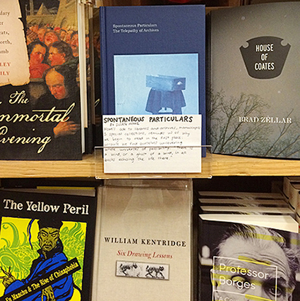 Spontaneous Particulars by Susan Howe at Green Apple Books in SF
