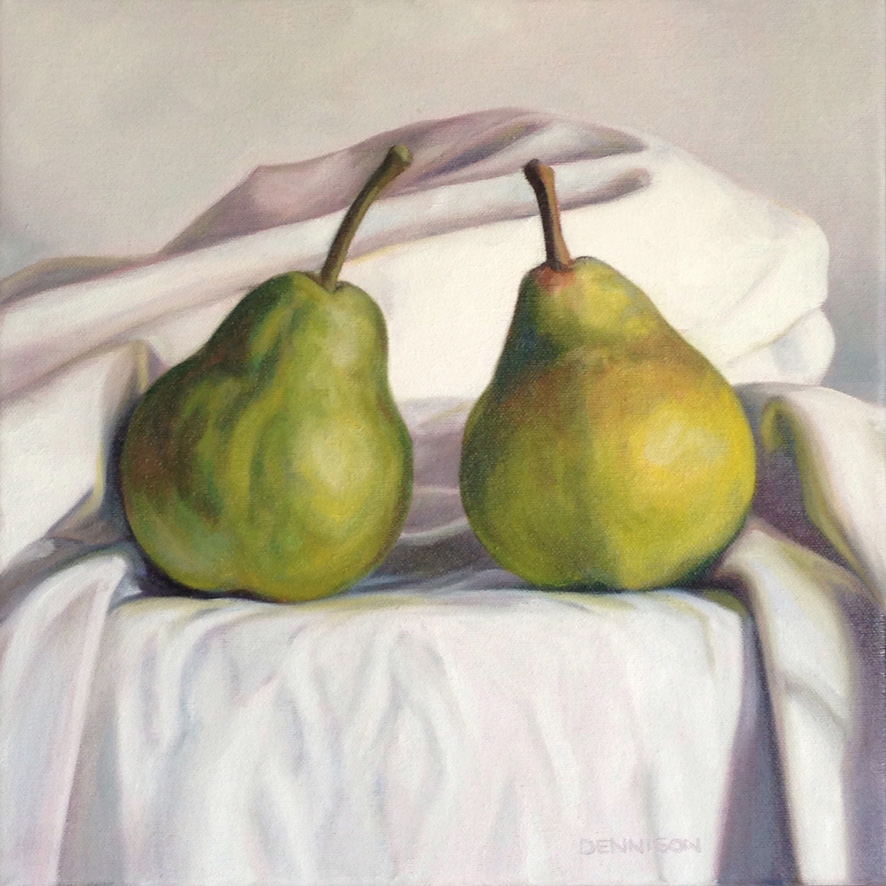 Green Pears   Oil on Canvas, 30cm x 30cm