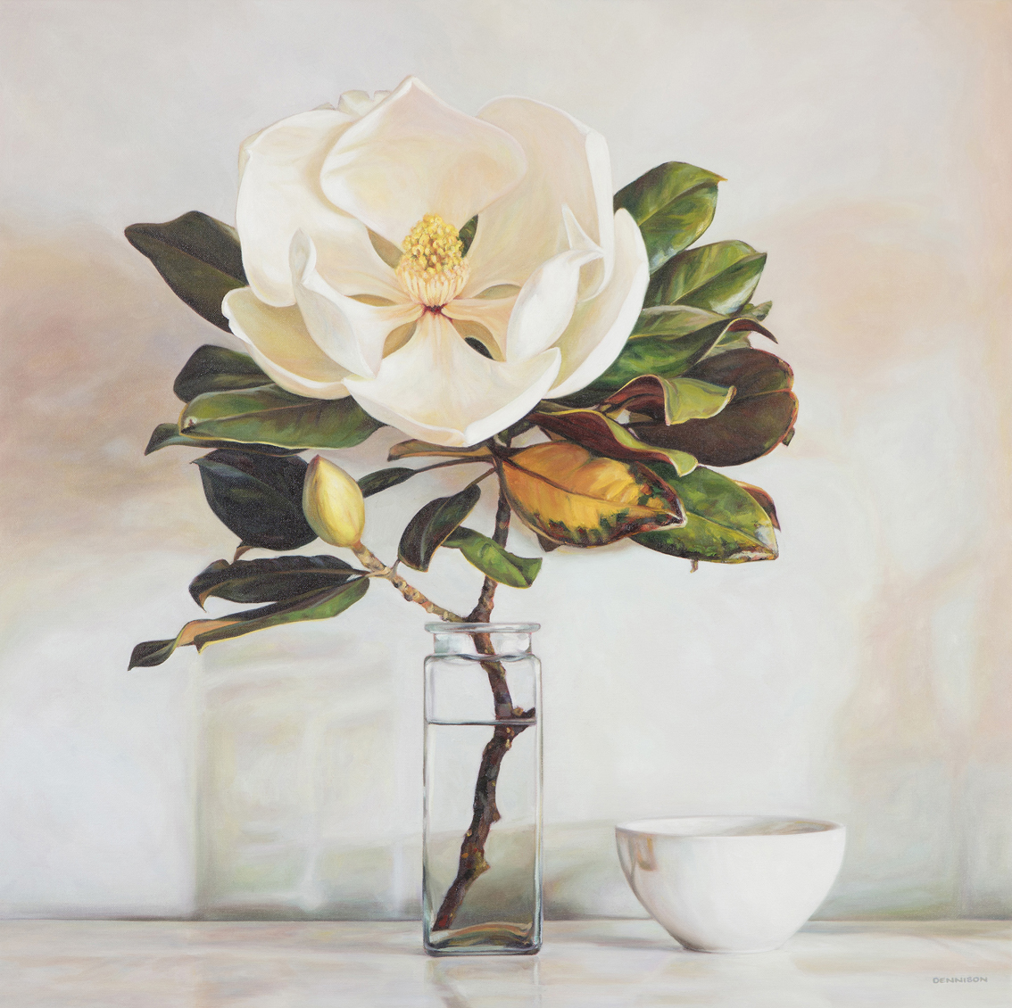 Magnolia from my Sister   Oil on Canvas, 84cm x 84cm