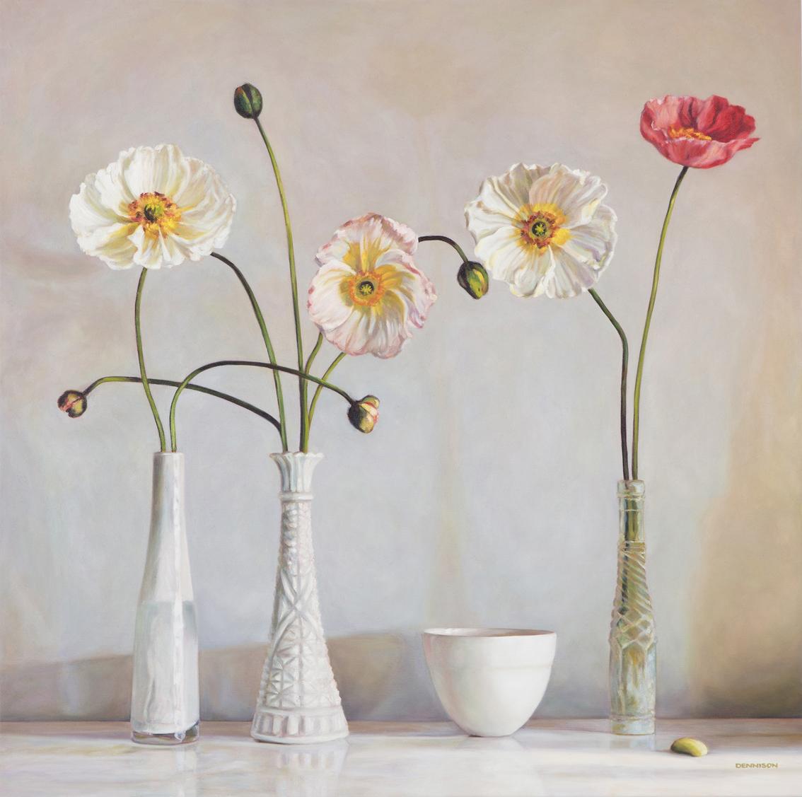 Interlacing Poppies   Oil on Canvas, 84cm x 84cm