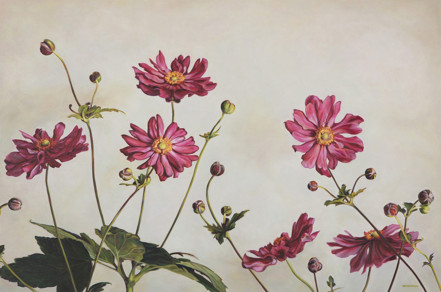 Windflowers   Oil on Canvas, 80cm x 120cm