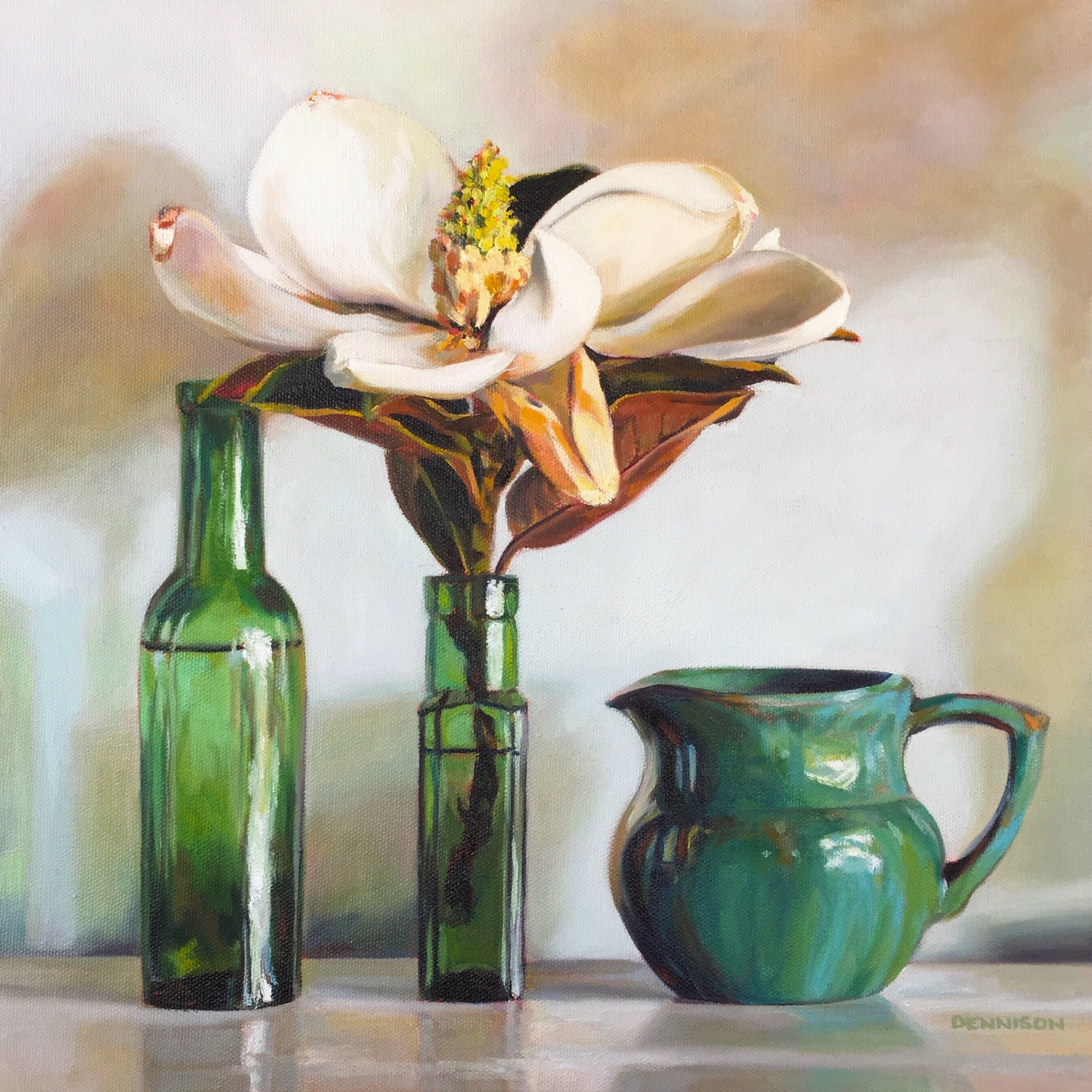 Green Still Life III   Oil on Canvas, 36cm x 36cm