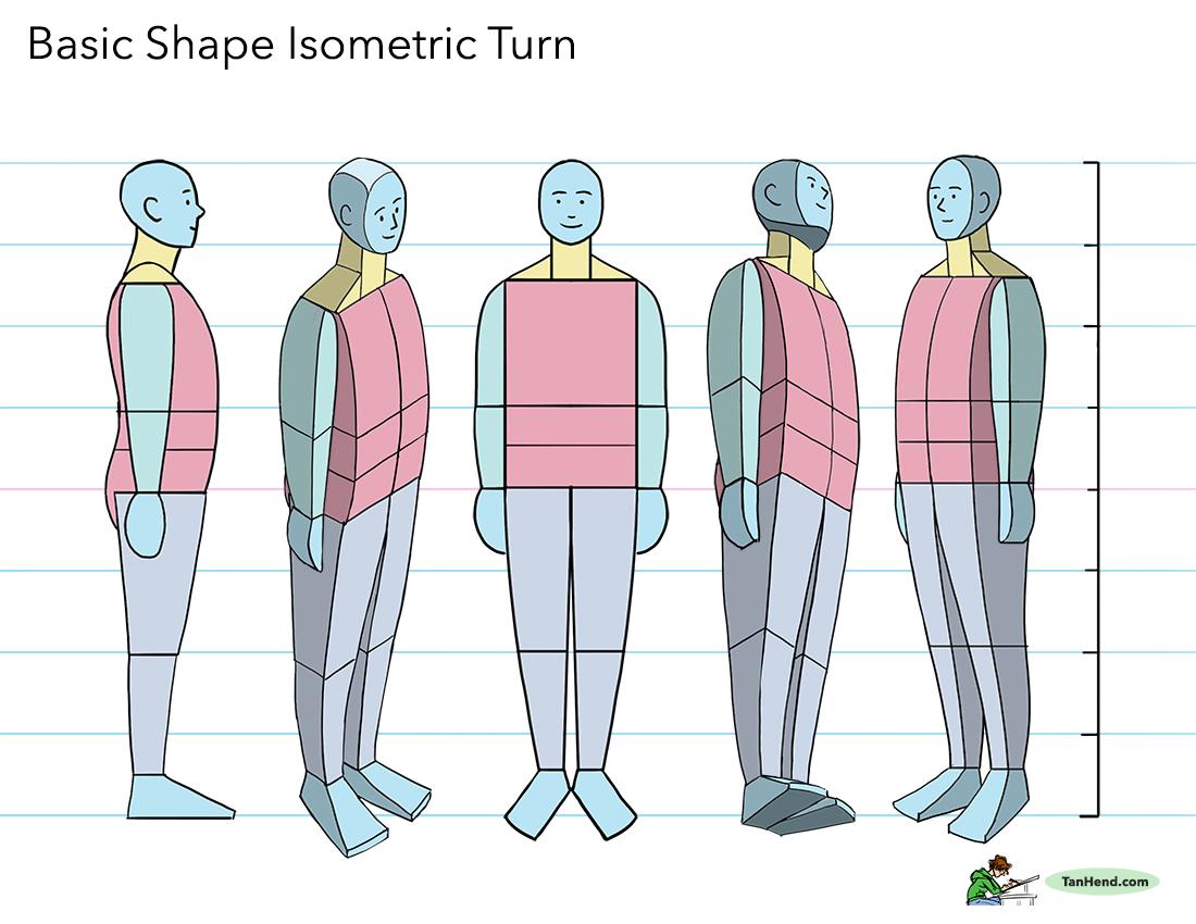 Basic Shape Isometric Turn