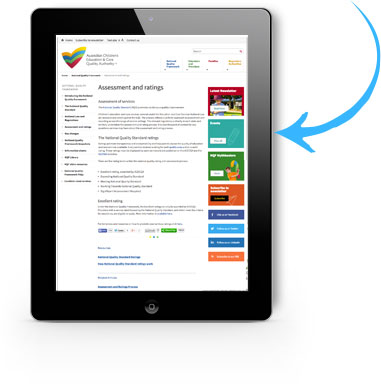 Click the screen to view more aboutThe National Quality Standard  Assessment and ratings.
