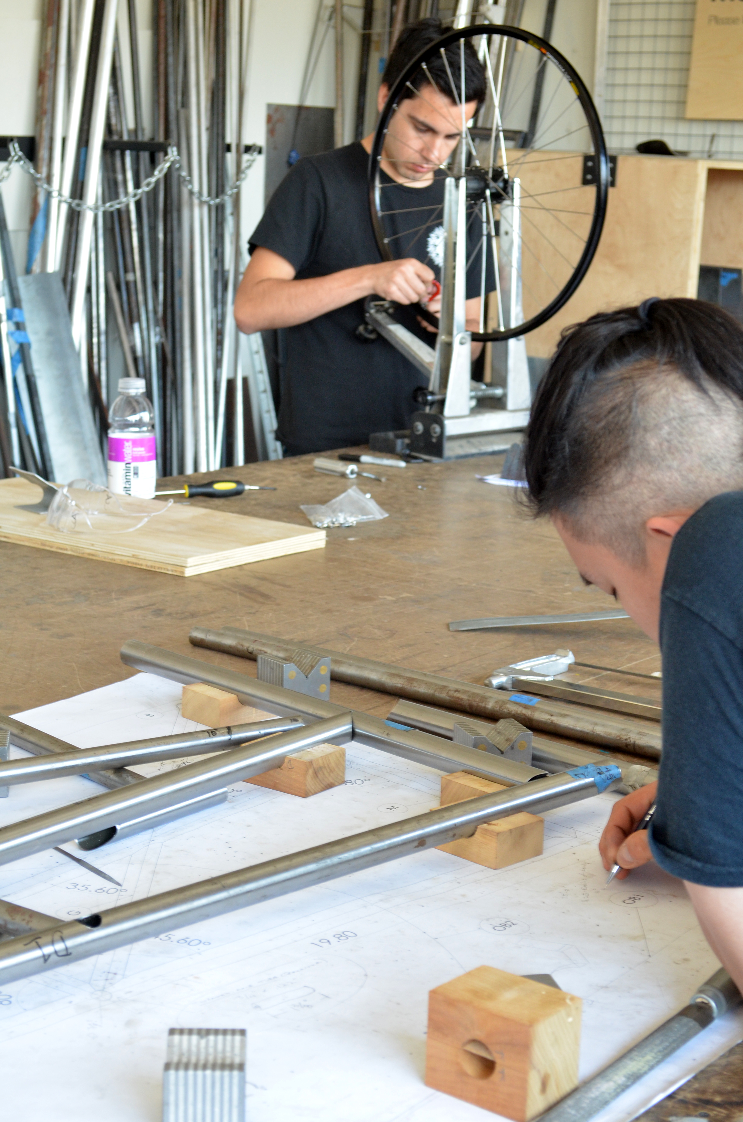 Planning out the fenders- aluminum strip with integrated storage? Yes!