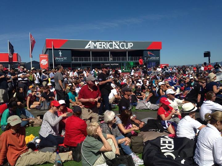 Great crowd at America's Cup 2013