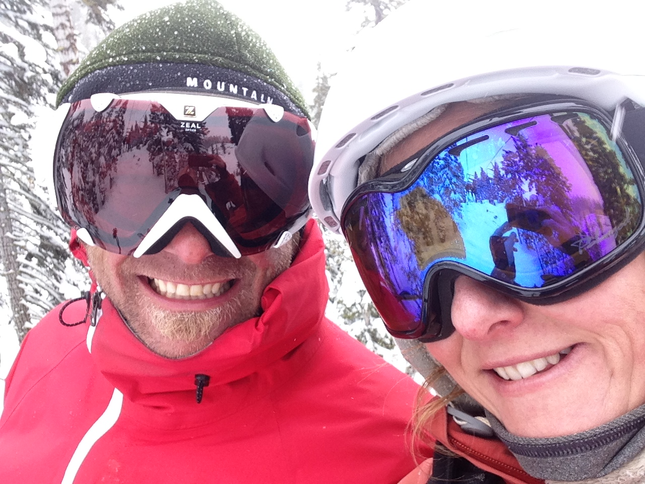 A perfect day on the hill chatting about our love of skiing on the chair on a powder day!